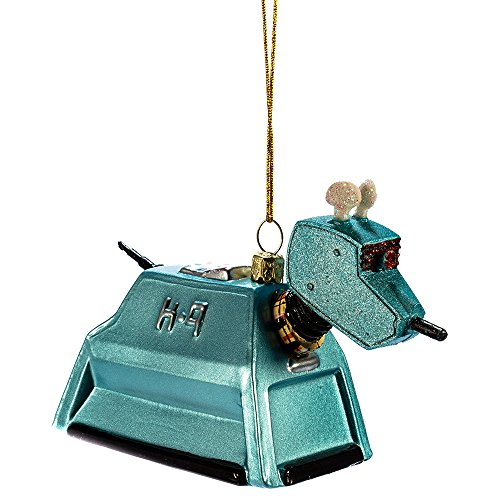 Kurt Adler Glass Doctor Who K-9 Ornament, 4.5-Inch -