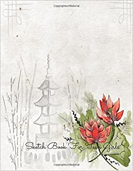 Sketch Book For Teen Girls Flowers For Art Artists To Draw