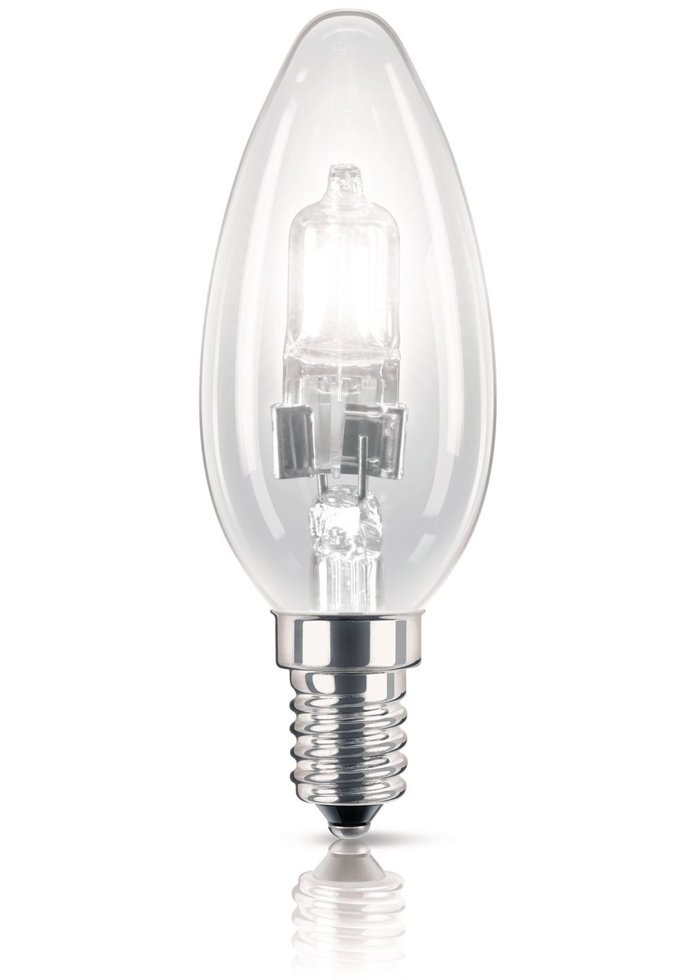 Philips Halogen Classic B35 E14 Small Edison Screw Light Bulb, 42 W (55 W Equivalent, Dimmable, 2000 Hours) - Warm White Philips Consumer Lighting 925646345505