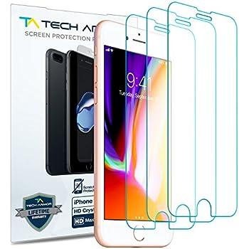 80%OFF Tech Armor Apple iPhone 7 Plus/iPhone 8 Plus (5.5-inch) Anti-Glare/Fingerprint Film Screen Protector [3-Pack] for Apple iPhone 7 Plus/8 Plus