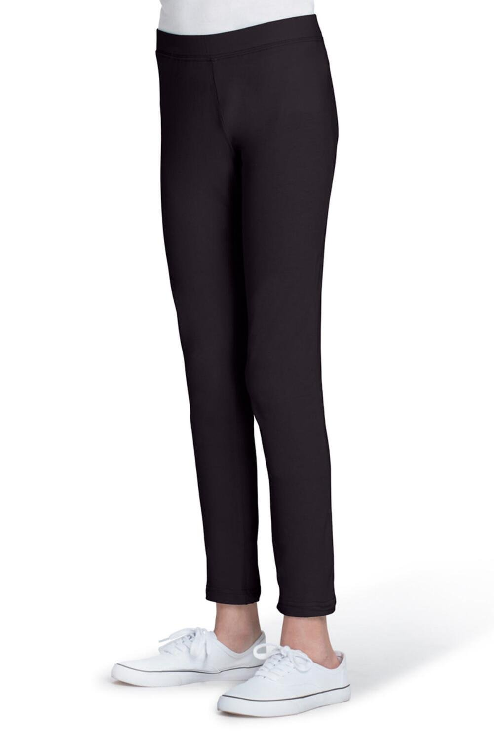 French Toast Girls Solid Leggings,black,10/12