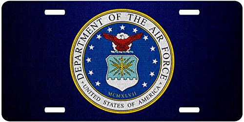 Department Air Seal Force - ExpressItBest Premium Aluminum License Plate - U.S. Department of The Air Force, Seal