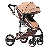 HGYG Infant Toddler Baby Stroller Travel Baby Carriage Two Way Folding Luxury Pushchair High Landscape