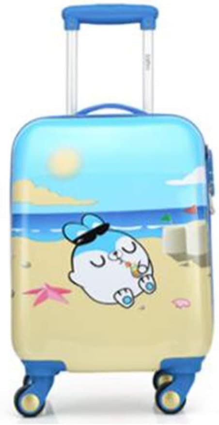 Size : 18, Style : C Universal Wheel Luggage Runtongshanghang Trolley case Multi-Color Trolley case Cartoon Travel Trolley case 18//19//20