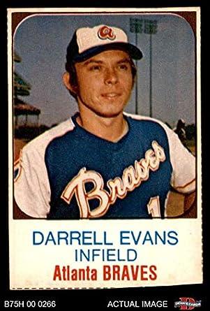 Amazoncom 1975 Hostess 3 Darrell Evans Atlanta Braves Baseball