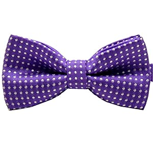 Pet Bow Tie, VICTHY Colorful Polka Dots Adorable Collar Butterfly Knot Puppy Adjustable Bow Ties for Dogs/Cats/Other Pets Purple