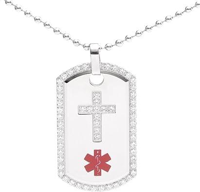 Engraved Stone Pendant Stone Necklace Cross Pendant