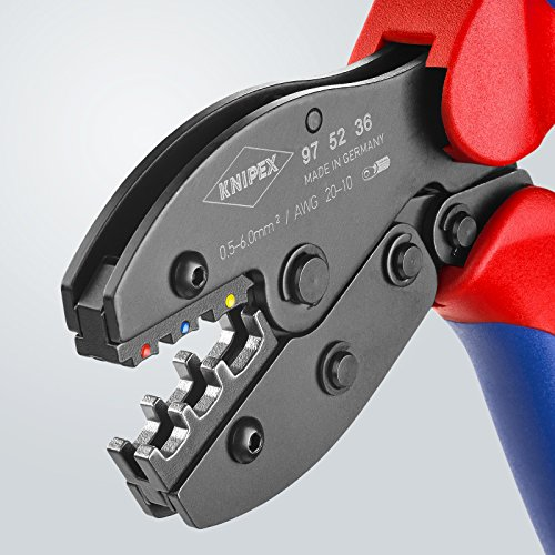 Knipex 97 52 36 0,5-6mm Crimping Pliers ''PreciForce'' for insulated terminals by KNIPEX Tools (Image #3)
