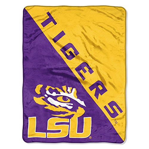 The Northwest Company Officially Licensed NCAA LSU Tigers Halftone Micro Raschel Throw Blanket, 46