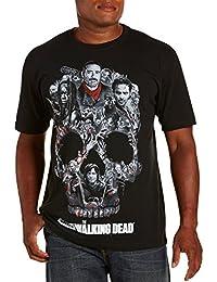 Walking Dead--Skull Montage Big & Tall Short Sleeve Graphic T-Shirt