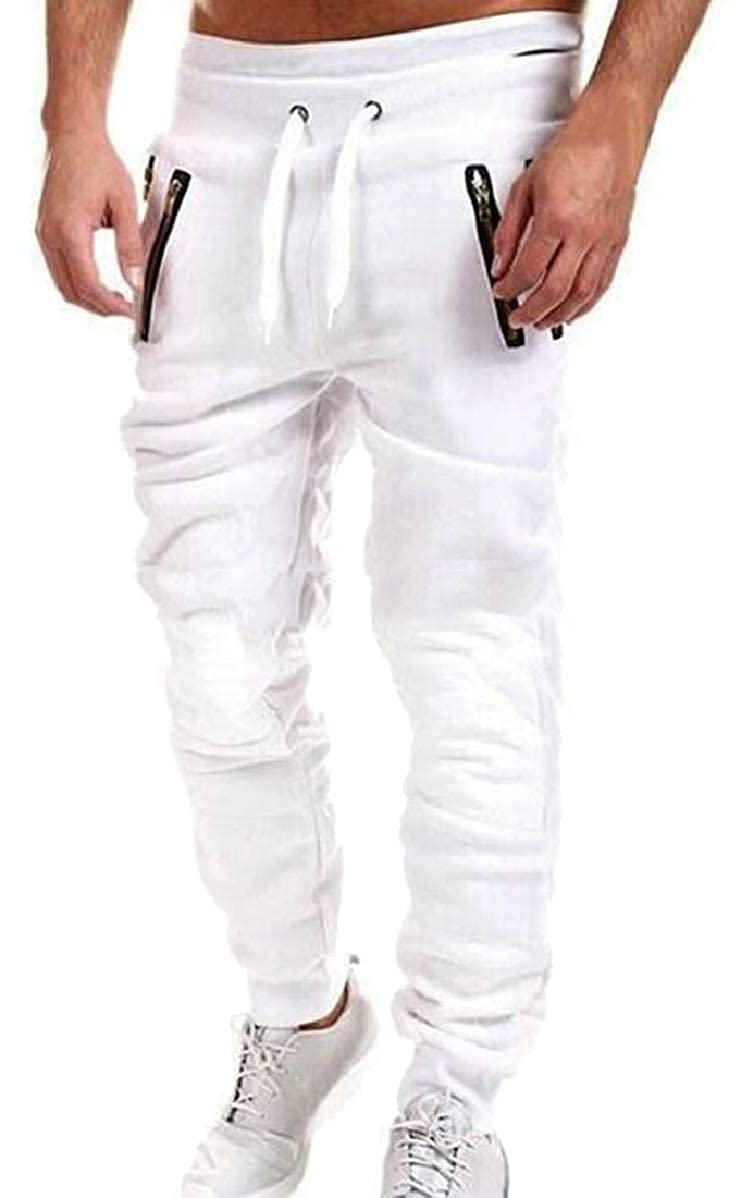 FLCH+YIGE Mens Loose Joggers Casual Lounge Pajama Gym Workout Pants