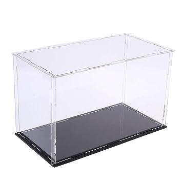 Acrylic Display Case Dustproof Model Figures Protection Box 31x17x19cm