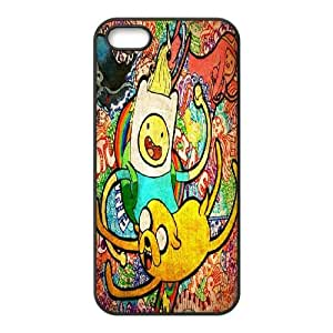 T-TGL(RQ) Iphone 5 5G 5S High-Quality Phone Case Adventure Time Cartoon with Hard Shell Protection