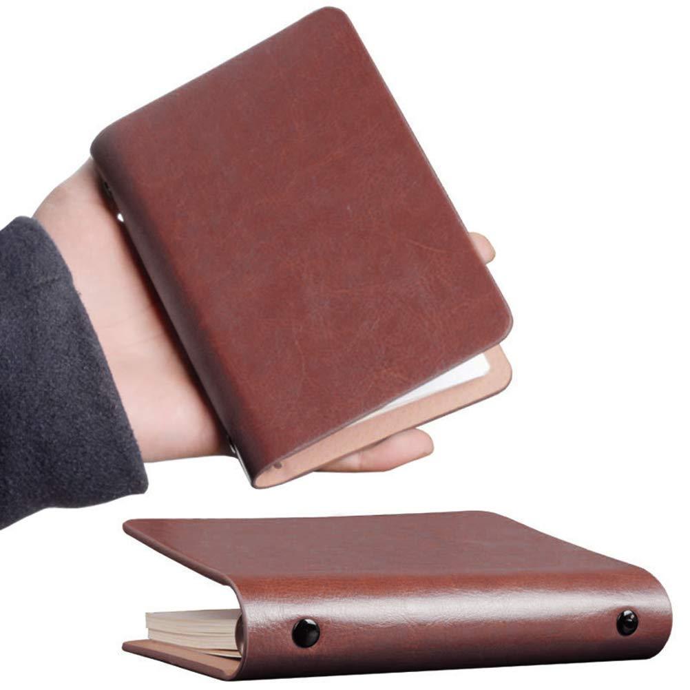 Toyvian Pocket Notebook in pelle A7 Pocket Lista di controllo portatile a fogli mobili per ufficio a casa marrone