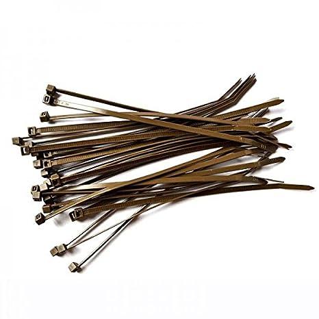 2d81ae72b91c 100 Pack of Brown Cable Ties - 300mm x 4.8mm - High Quality Strong Nylon Zip  Ties by Gocableties: Amazon.co.uk: DIY & Tools