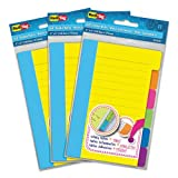 Redi-Tag Divider Sticky Notes with Tabs, Assorted Colors, 60 Sheets/Set, 3 Sets/Box