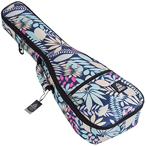 Ukulele Case Soprano Size Reyesano 8 Official Colors Double woven carry handle Adjustable backpack straps Ultra Thick Padding with Enhanced Glide Zipper