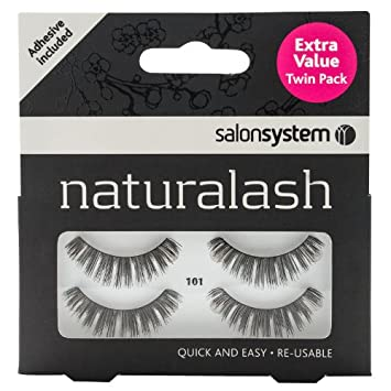 d39028aa8d6 Salon Systems Naturalash Black False Eyelashes + Lash Adhesive 101 Twin  Pack: Amazon.co.uk: Health & Personal Care