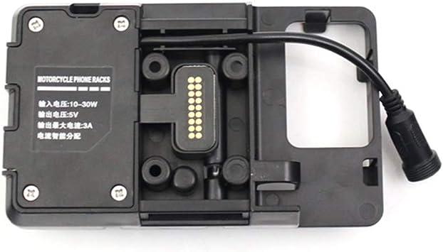 KKmoon Accessoires de Support de Navigation pour T/él/éphone Portable avec Chargeur USB pour BM W R1200GS LC et Adventure S1000XR R1200RS