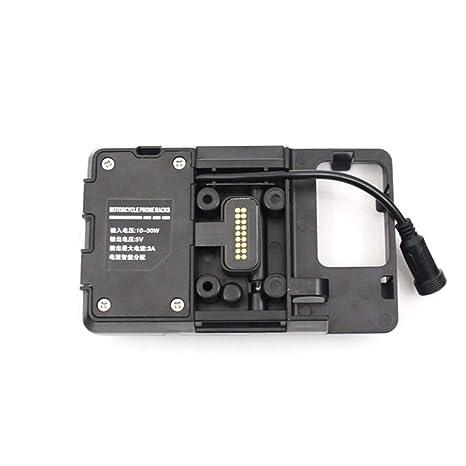 Carrfan Soporte de Navegación Teléfono Móvil de Motocicleta Adecuado de Accesorios con Cargador USB para BMW R1200GS LC y Adventure S1000XR R1200RS