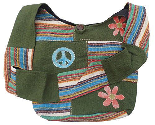 NATURAL FLOW - Bolso al hombro para mujer Multicolor multicolor Large Verde