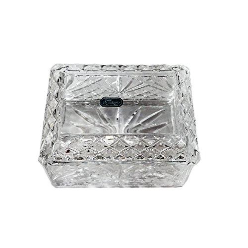 Vintage Cris D'Arques JG Durand Velleont Lead Crystal Trinket Box/Dish/Cigarette Box, Heavy Lead Crystal, Criss Cross & Pinapple Fan Pattern
