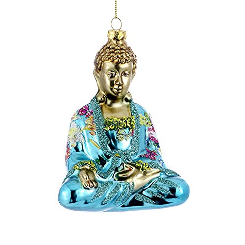 (Kurt Adler Glass Buddha Ornament)
