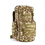 Huntvp Military MOLLE Backpack Rucksack Tactical Gear Bag Adjustable 70-85L Large Capacity Assault Pack For Hunting Camping