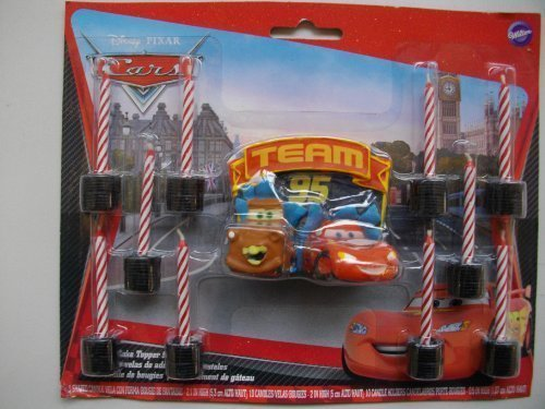 1 X World of Cars Molded Candle Candles (11 per package) [Toy] (Cars Molded Candle)