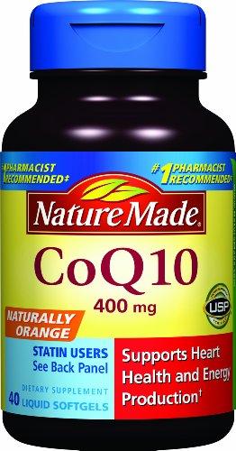 Nature Made Coq10 400 Mg, Naturally Orange, 40-Count