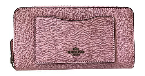 Coach Crossgrain Leather Accordian Zip Wallet, Blush ()