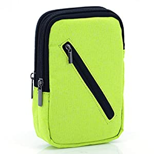 U-TIMES 6 inch Cell Phone Waist Bag,Multipurpose Small Canvas Chest Hanging Wallet Pouch Passport Pack(Light Green)