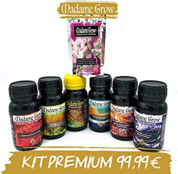 MADAME GROW / Kit Primium/Marihuana o Cannabis / 7Pack / Ciclo Completo/Gran Cosecha (6 x 250 ml + 30 gr)