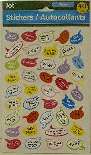 (40 Count Pack of Funny/Sassy Bubble Quote Stickers)