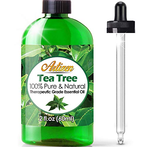 2oz - Artizen Tea Tree Essential Oil (100% Pure & Natural - UNDILUTED) Therapeutic Grade - Huge 2 Ounce Bottle - Perfect for Aromatherapy