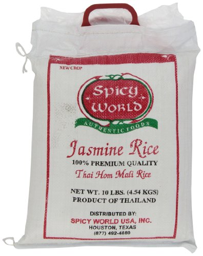 Spicy World Pure Jasmine Rice From Thailand, 10-Pound Bag by Spicy World