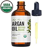 Moroccan Argan Oil (2oz), USDA Certified Organic, Virgin, 100% Pure, Cold Pressed by Kate Blanc. Stimulate Growth for Dry and Damaged Hair. Skin Moisturizer. Nails Protector. 1-Year Guarantee.