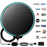TV Antenna, Amplified HD Digital Indoor TV Antenna, TV Aerial 120-150 Miles Range, 4K 1080P HD VHF UHF for Local Channels, 18FT Premium Coaxial Cable