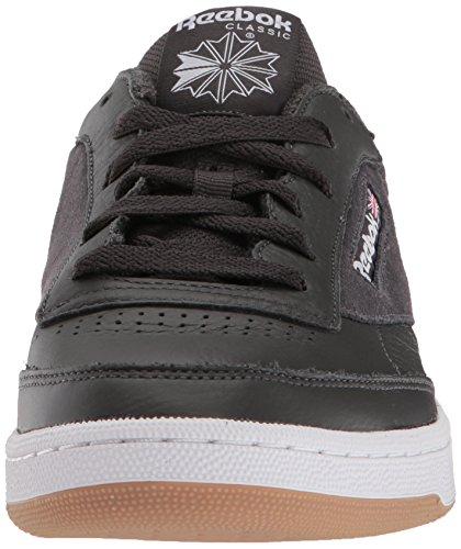 Reebok Mens Club C 85 Estl Sneaker Carbone / Bianco / Gomma Blu Lavata