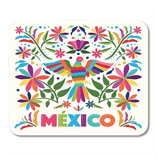 Nakamela Mouse Pads Colorful Mexican Traditional Embroidery ()