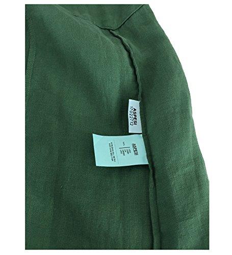 H613 comoda lungo vestibilità abito 100 lino verde donna ASPESI modello AzXExRPEn