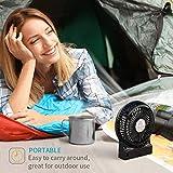 OPOLAR Mini Portable Battery Operated Desk Fan with
