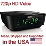 720p Alarm Clock Radio HD Spy Camera Covert Hidden Nanny Camera Spy Gadget