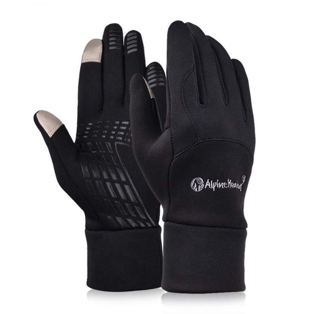 GLOVESCOA Männer Frauen Outdoor Touch Screen Laufhandschuhe Winter Warme Handschuhe Fäustlinge für Fahren Reiten Radfahren Fleece