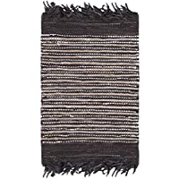 Safavieh Vintage Leather Collection VTL373C Hand-Woven Dark Brown and Multi Area Rug (2 x 3)