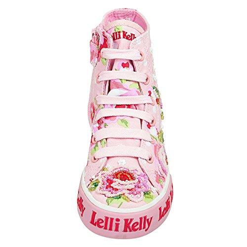 LELLI KELLY Stoff Chuck Kinderschuhe Perlenübersät, rosa, Gr. 30