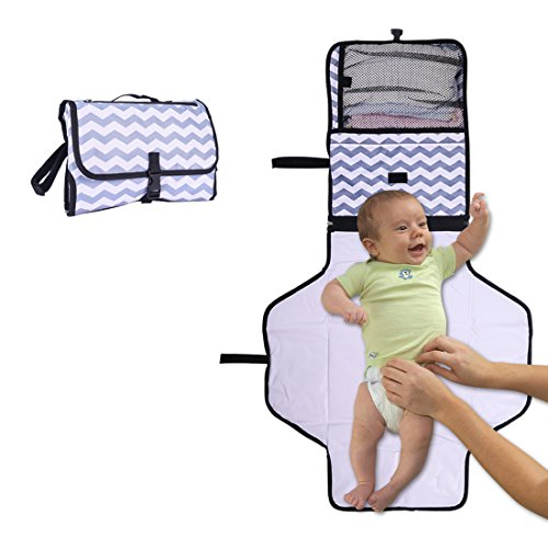 UMLIFE Portable Diaper Changing Pad Toddler Waterproof Clutch Bag Baby Changing Station Infant Travel Diaper Mat Kit