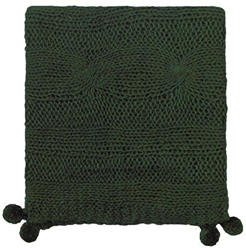 Company C Felicity Throw Blanket, 0, Loden (Loden Wool Green)