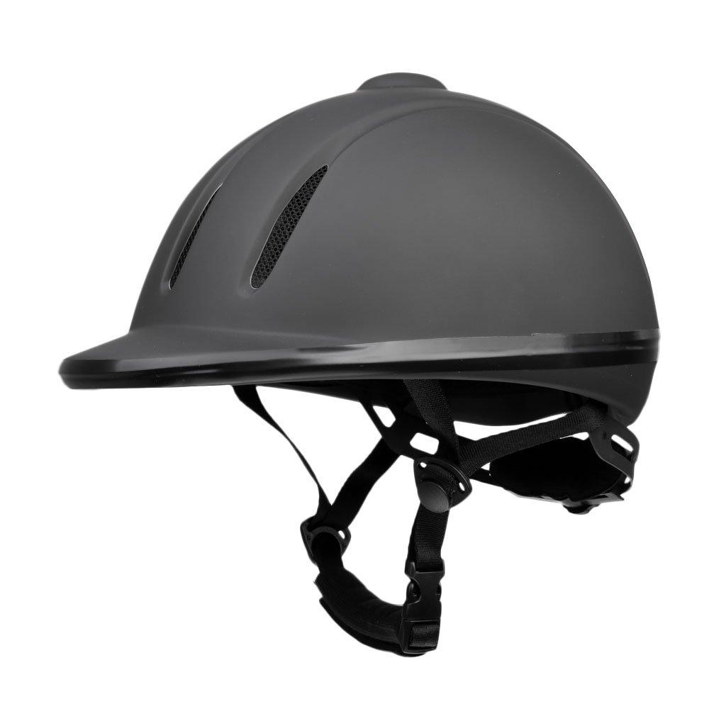 MagiDeal Black Horse Riding Equestrian Helmet Adjustable Protective Gear S/M/L/XL