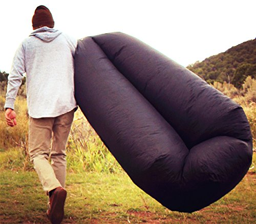 Inflatable Sleeping Bag Lounger Air Sofa Anti-air Leaking Design For Indoor Or Outdoor Use Inflatable Lounge For Camping Picnics Sports & Entertainment Camp Sleeping Gear